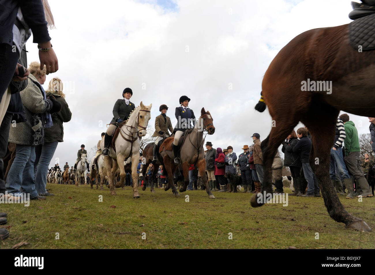 Traditional Boxing Day Hunt at Petworth Park, Sussex, England - Stock Image