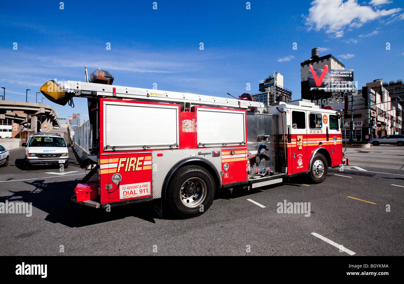 firefighters, New York - Stock Image
