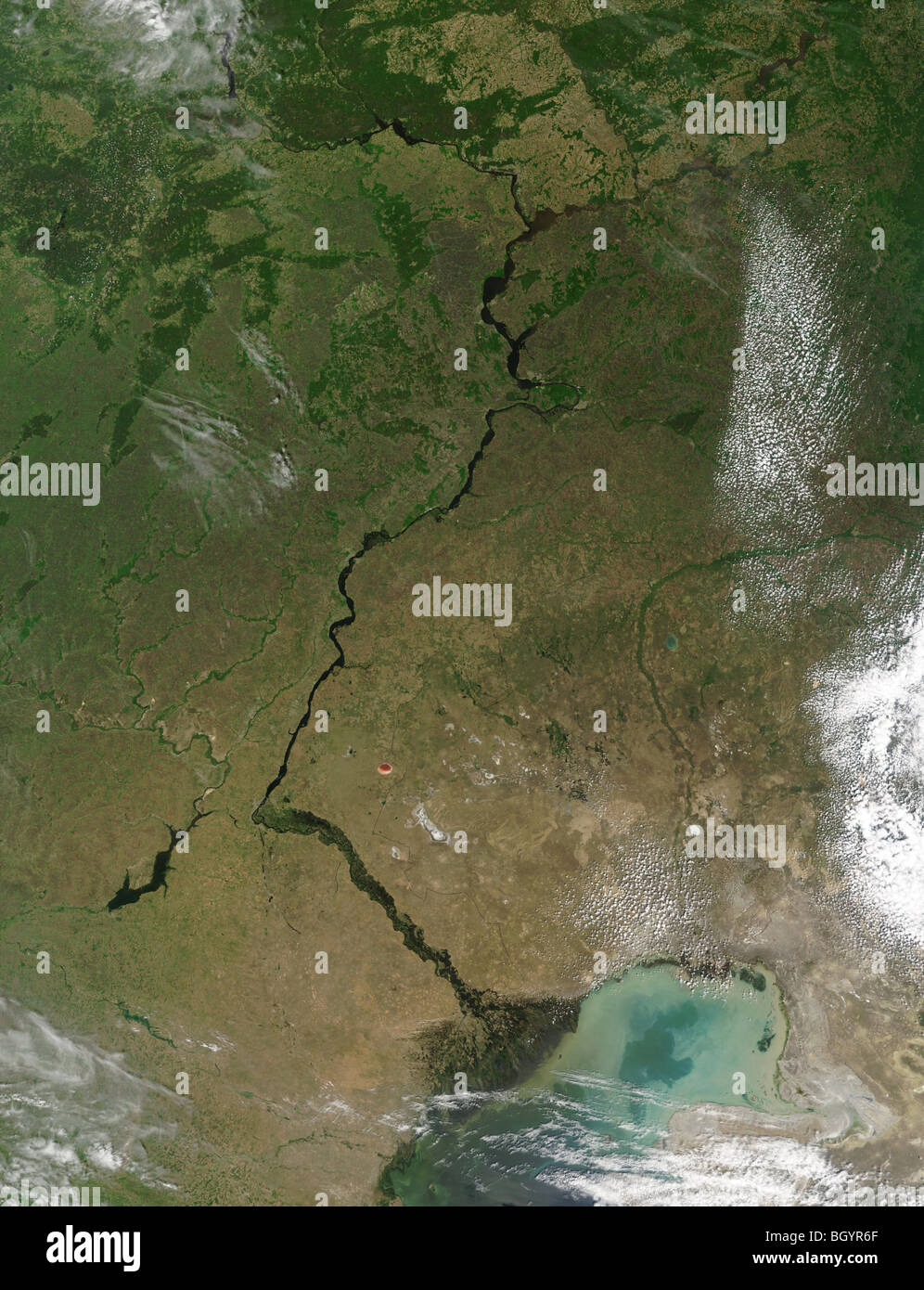Satellite image of Russia credit NASA