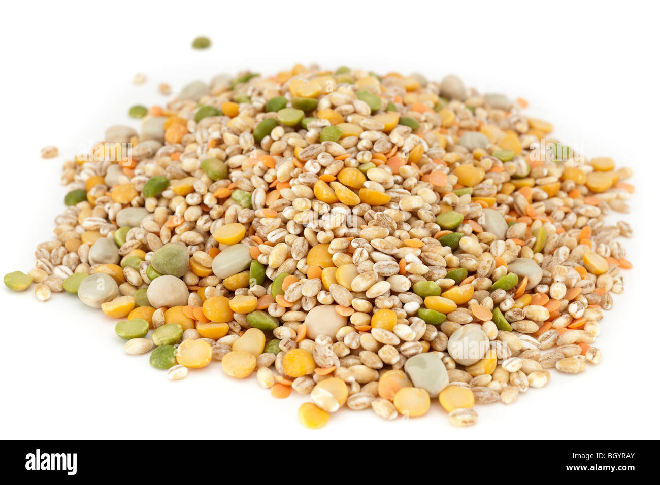 Mixed dried ingredients for soup and broth recipes Stock Photo