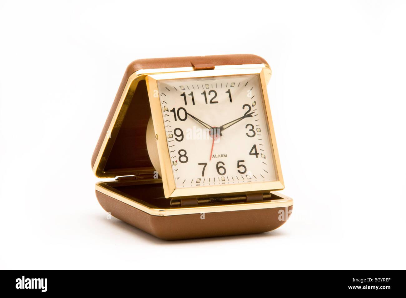 travel alarm clock - Stock Image