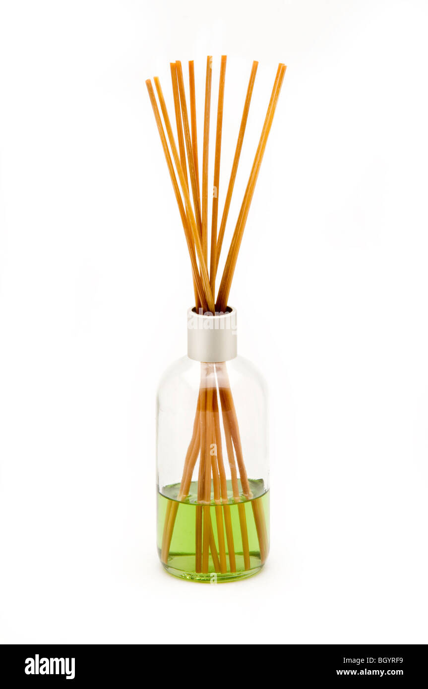 incense on white background - Stock Image