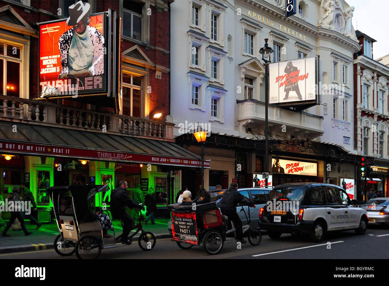 Apollo Theatre Shaftesbury Avenue London - Stock Image