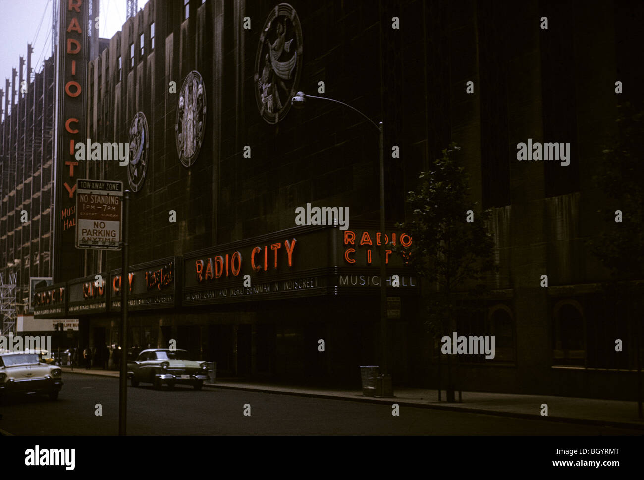 Radio City Music Hall in New York, NY during August 1958. - Stock Image