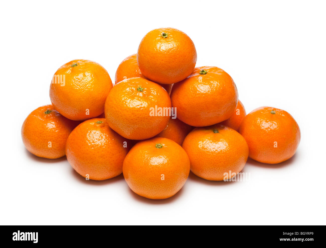 Clementines group on white Stock Photo