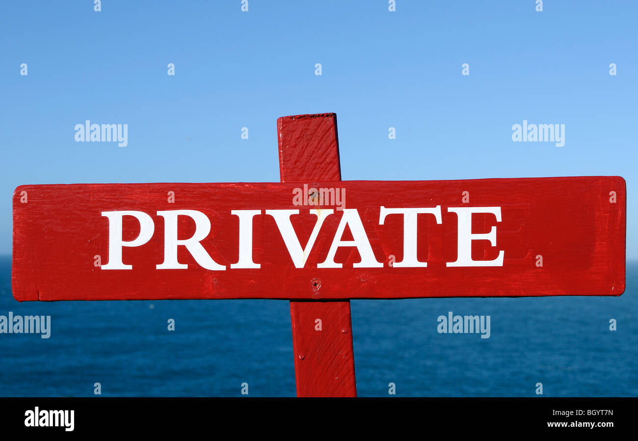a private sign - Stock Image