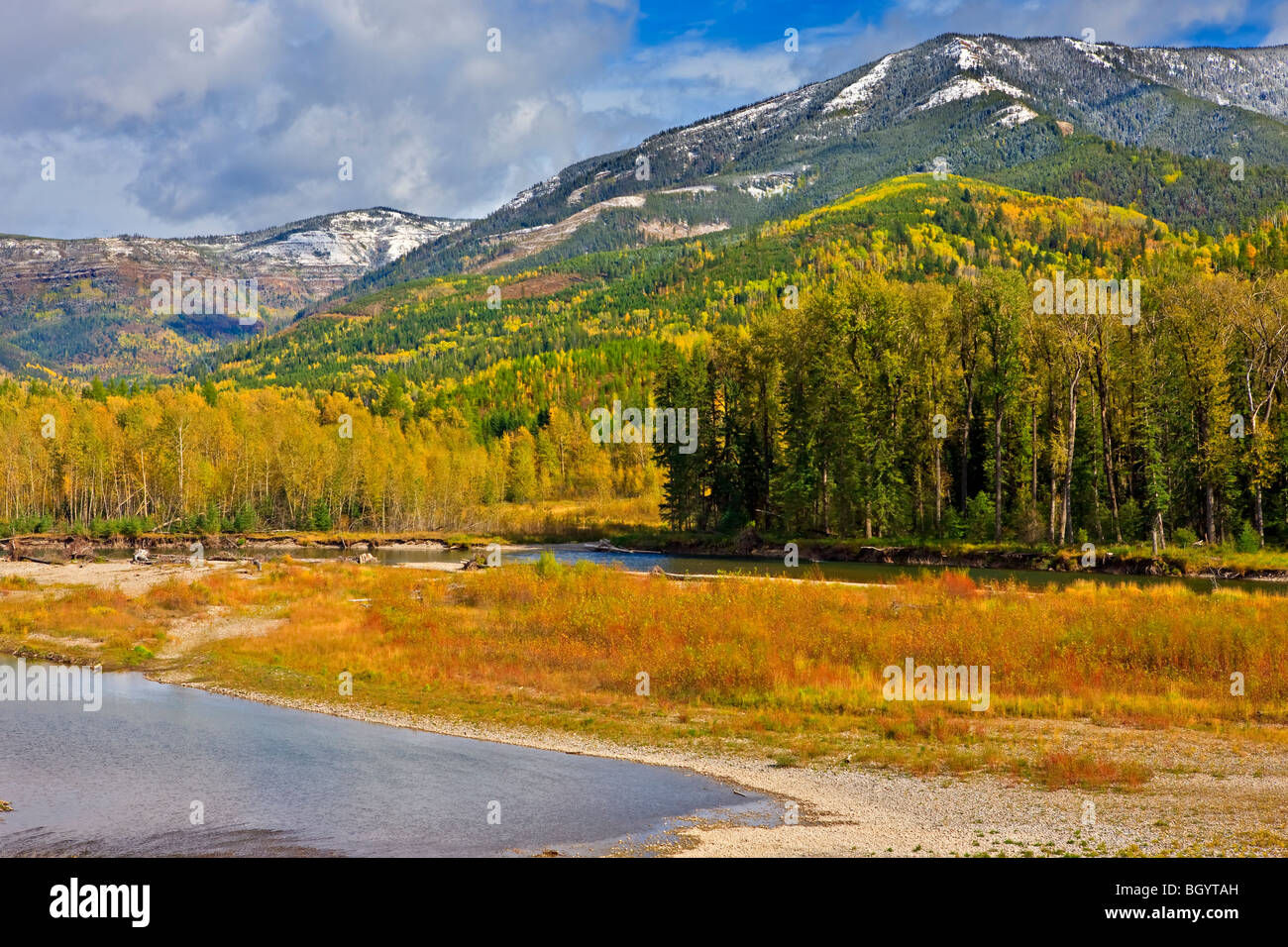 Elk River and the Mount Broadwood Heritage Conservation Area, East Kootenay, British Columbia, Canada. - Stock Image