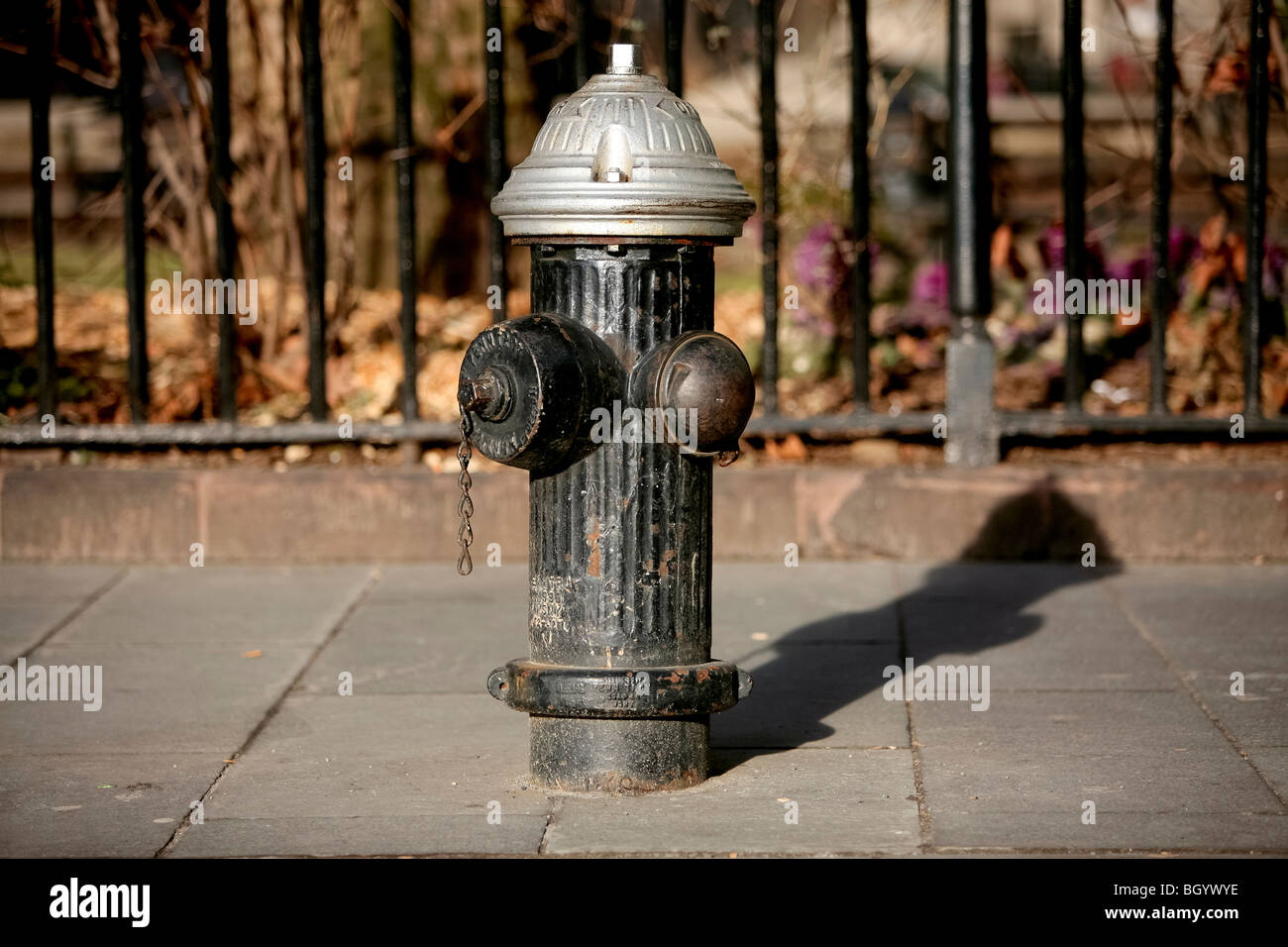 Fire hydrant or fire plug johnny pump in New York city - Stock Image