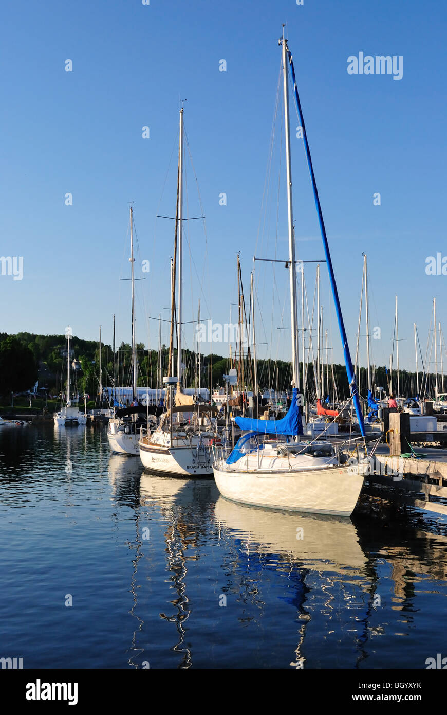 Sailing vessels at Bayfield Harbor - Stock Image