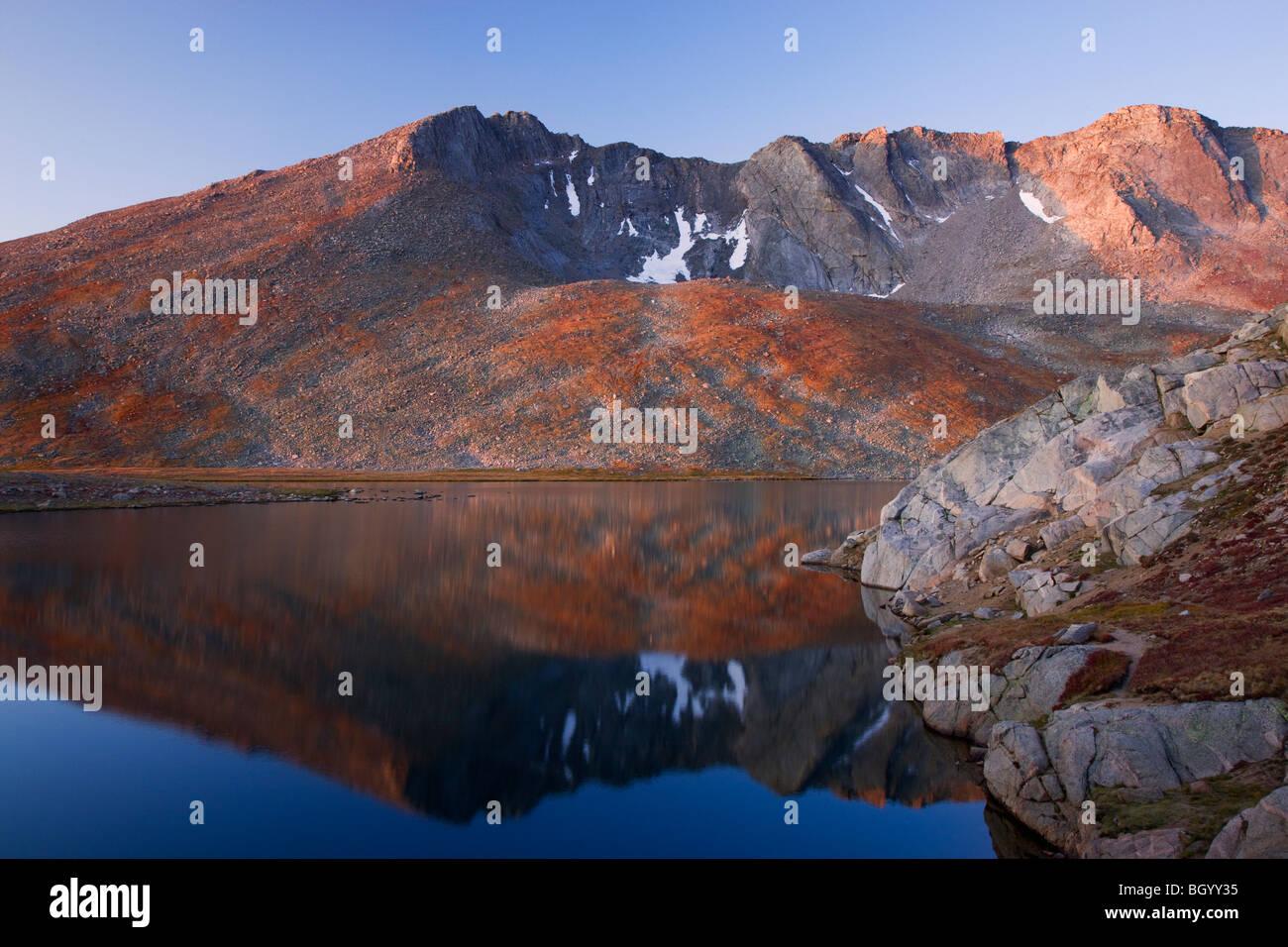 Summit Lake, Mount Evans Recreation Area, Arapaho National Forest, Colorado. - Stock Image