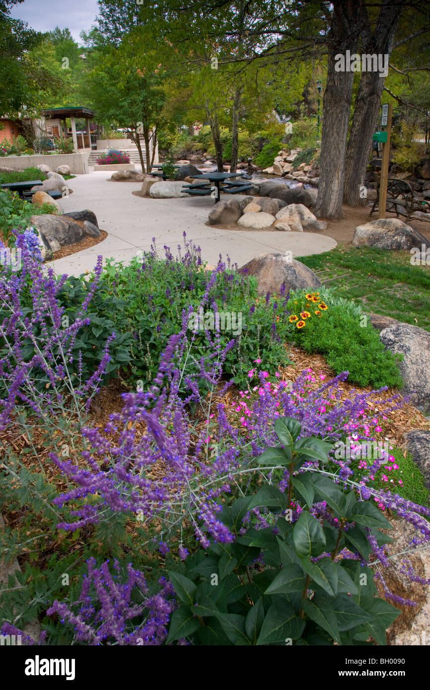 Tregent Park, Estes Park, gateway to Rocky Mountain National Park, Colorado. - Stock Image