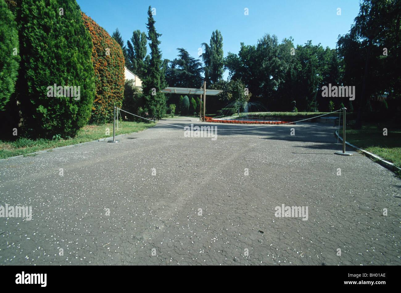 Entrance to the memorial of Josip Broz Tito, House of Flowers, Belgrade, Serbia, Balkans Stock Photo