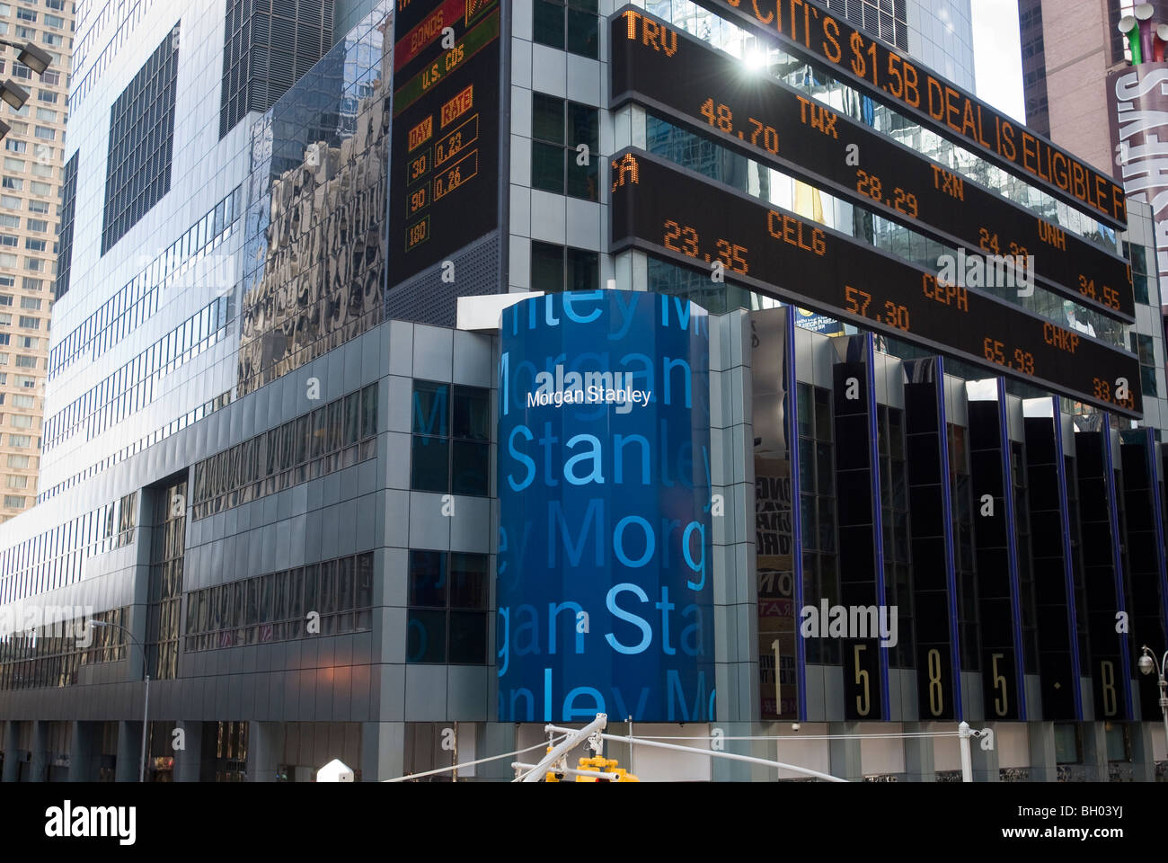 Morgan Stanley headquarters in Times Square in New York Stock Photo