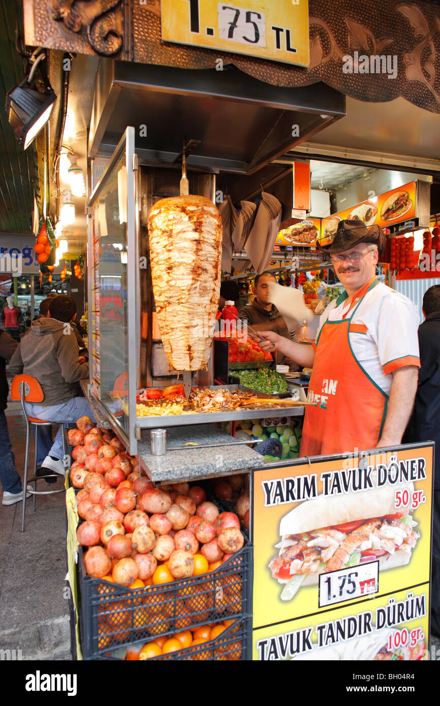 Food Stall Doner Kebab Istanbul Turkey Stock Photo Alamy
