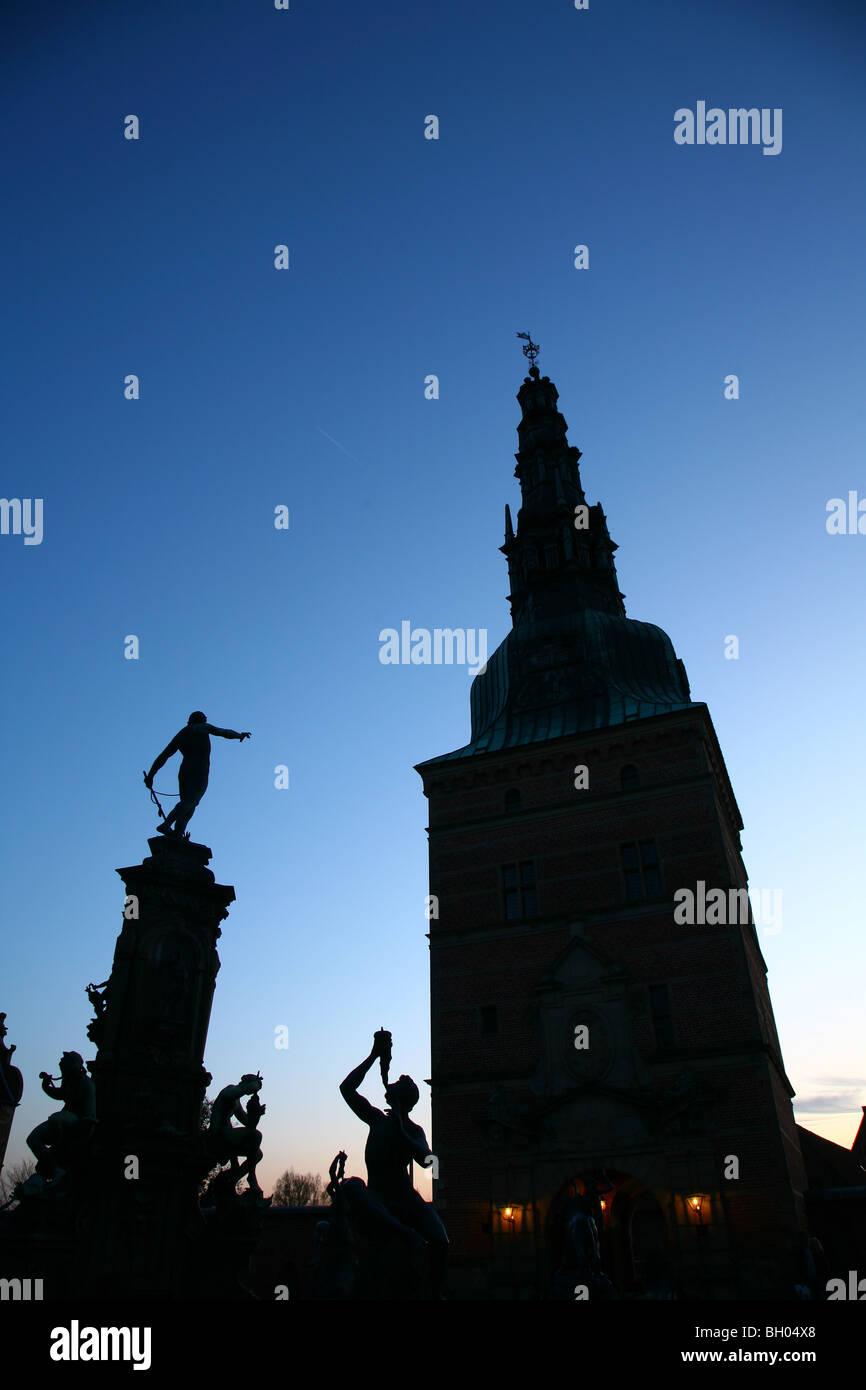 Frederiksborg Castle in Hillerød Denmark. - Stock Image