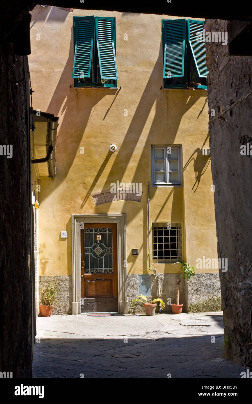 Lucca  Courtyard Tuscany Italy - Stock Image