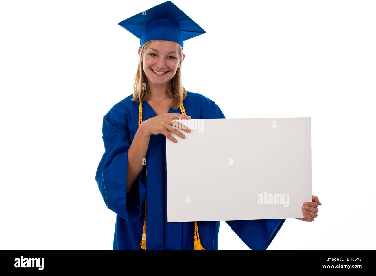 Teen Girl In Graduation Gown Stock Photos & Teen Girl In Graduation ...