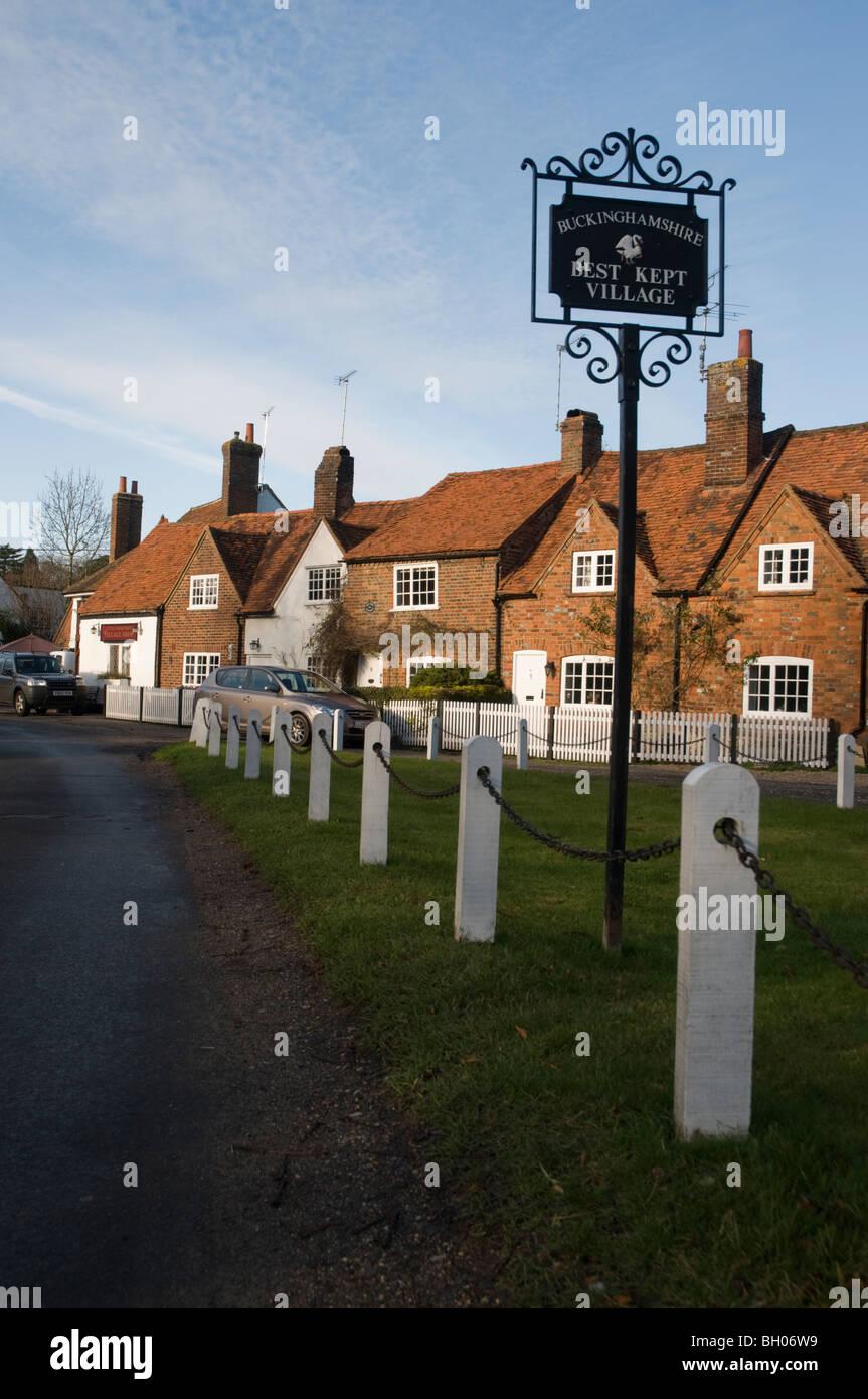 Buckinghamshire's Best Kept Village - Stock Image