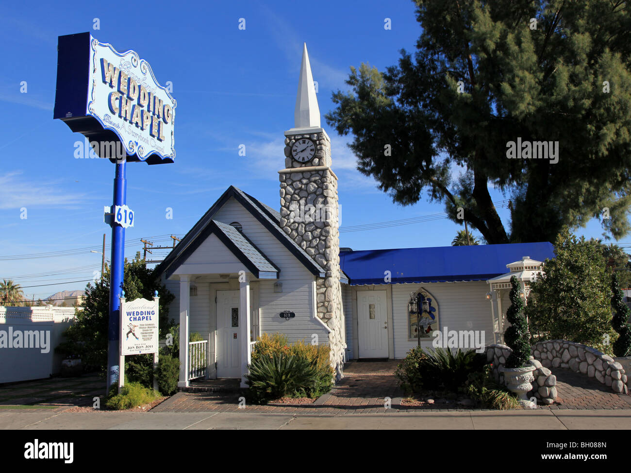 Graceland Wedding Chapel.Graceland Wedding Chapel Las Vegas Nevada Usa Stock Photo