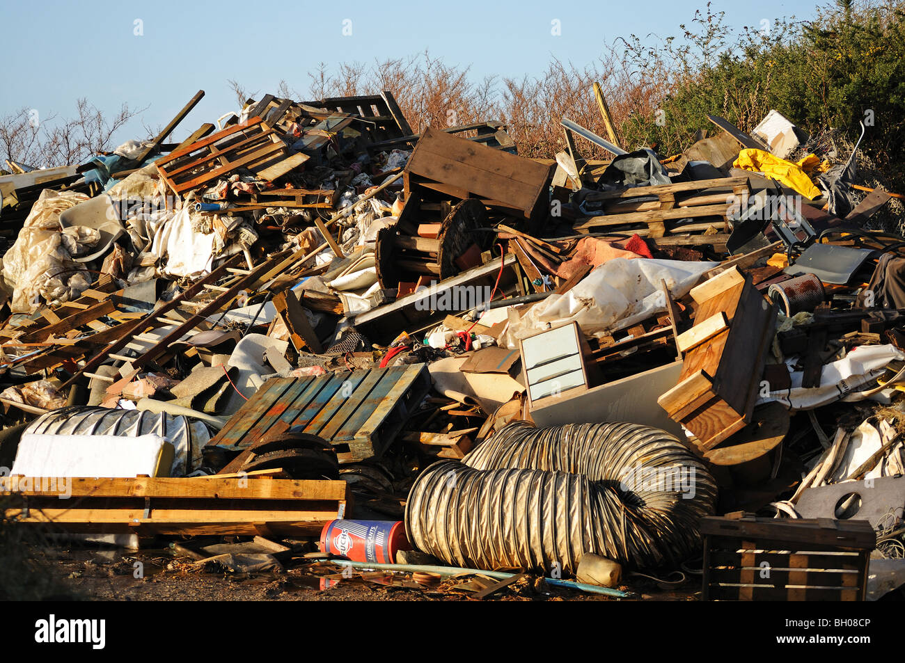 a rubbish dump in redruth, cornwall, uk - Stock Image