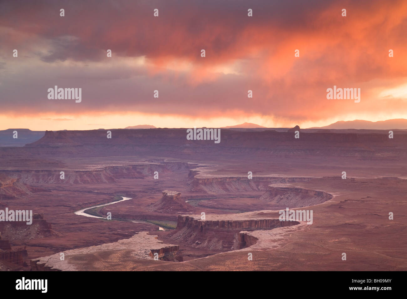 Green River Overlook, Island in the Sky District, Canyonlands National Park, near Moab, Utah. - Stock Image