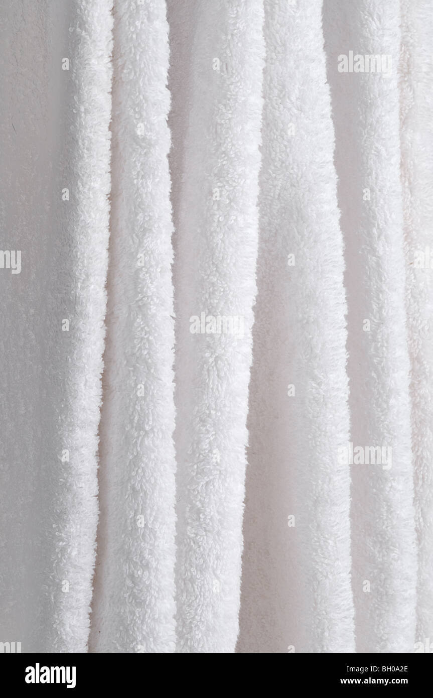 hanging white towel. Abstract Close Up Of Hanging White Towels - Stock Image Towel T