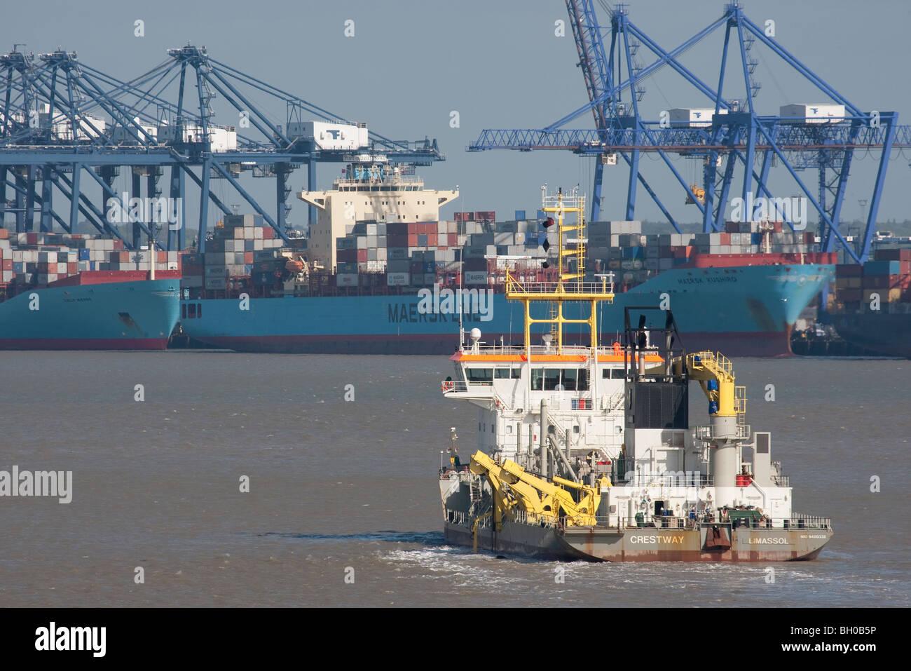 Port of Felixstowe. - Stock Image