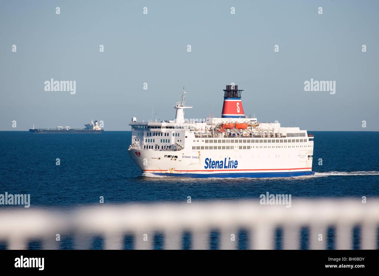 The MV Stena Danica on Kattegat between Gothenburg and Frederikshavn. - Stock Image