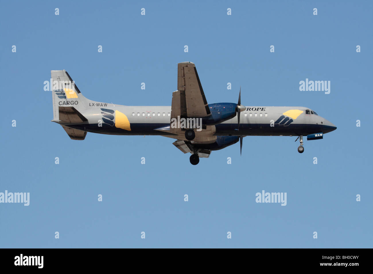 British Aerospace ATP operated by West Air Luxembourg flying as West Air Europe - Stock Image