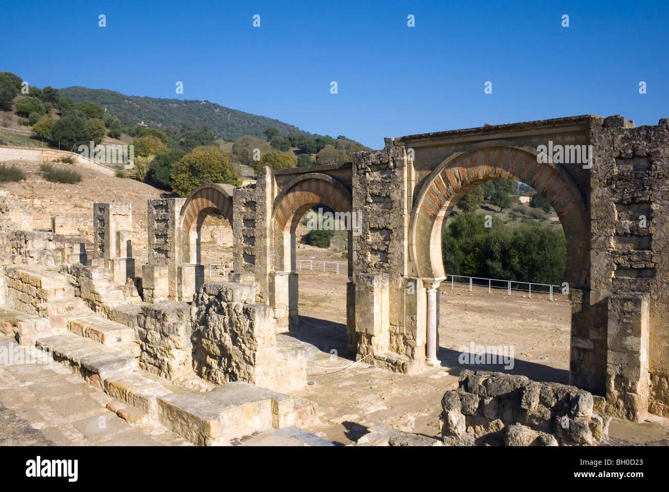 Cordoba, Spain. The Great Portico at Medina Azahara or Madinat al Zahra palace city. - Stock Image