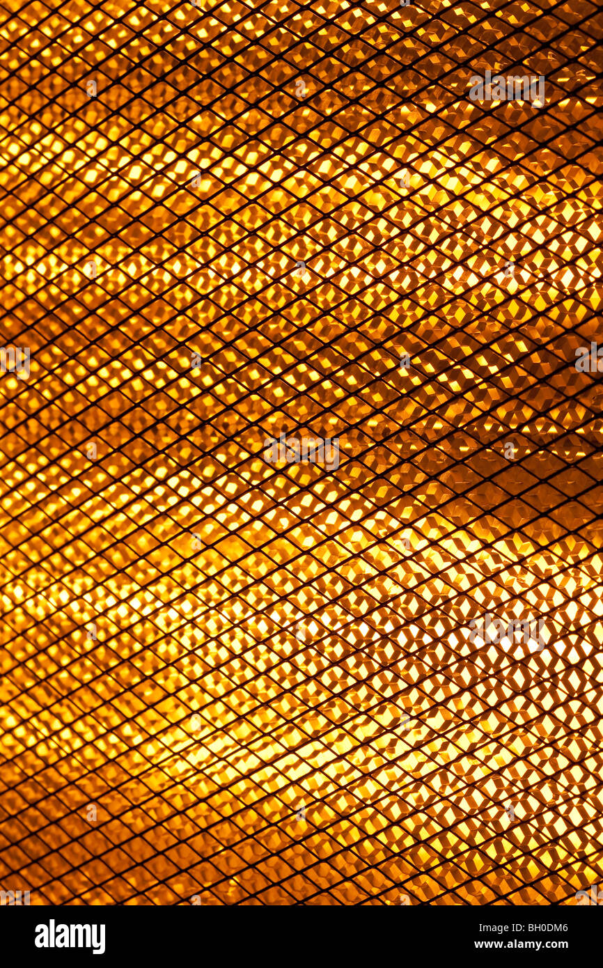 Close up of a halogen heater lamps - Stock Image