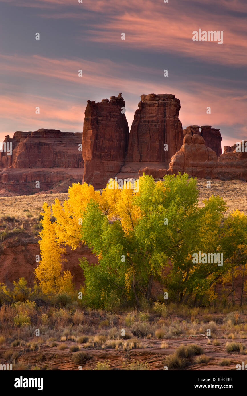 Courthouse Wash, Arches National Park, near Moab, Utah. - Stock Image