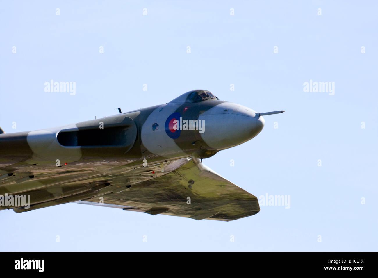 Vulcan bomber XH558 at RAF Leuchars Airshow 2009, Fife, Scotland - Stock Image