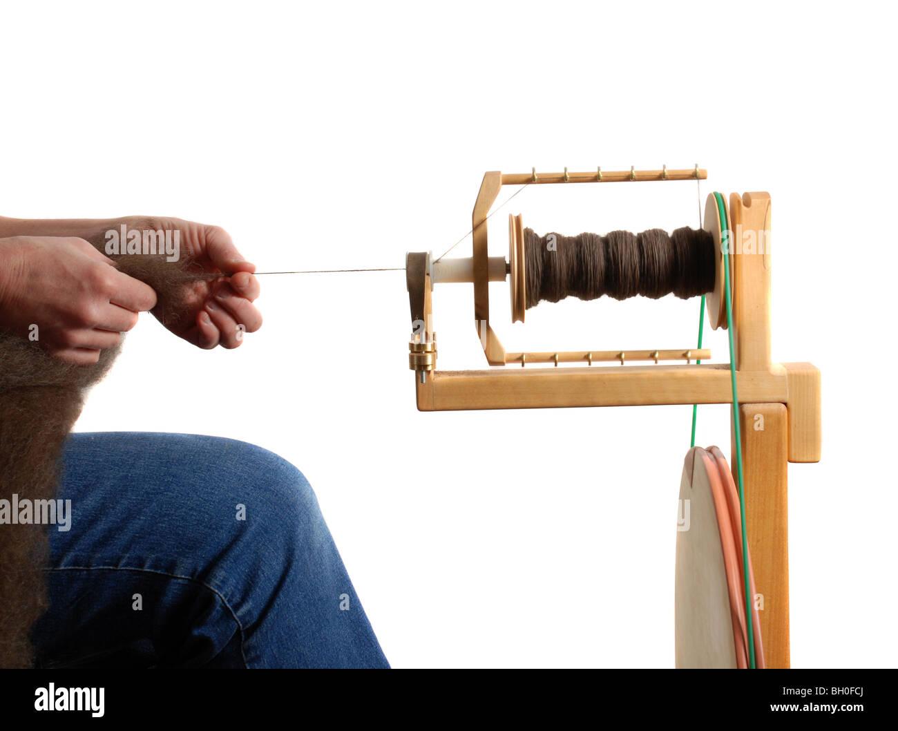 Spinning wool - Stock Image