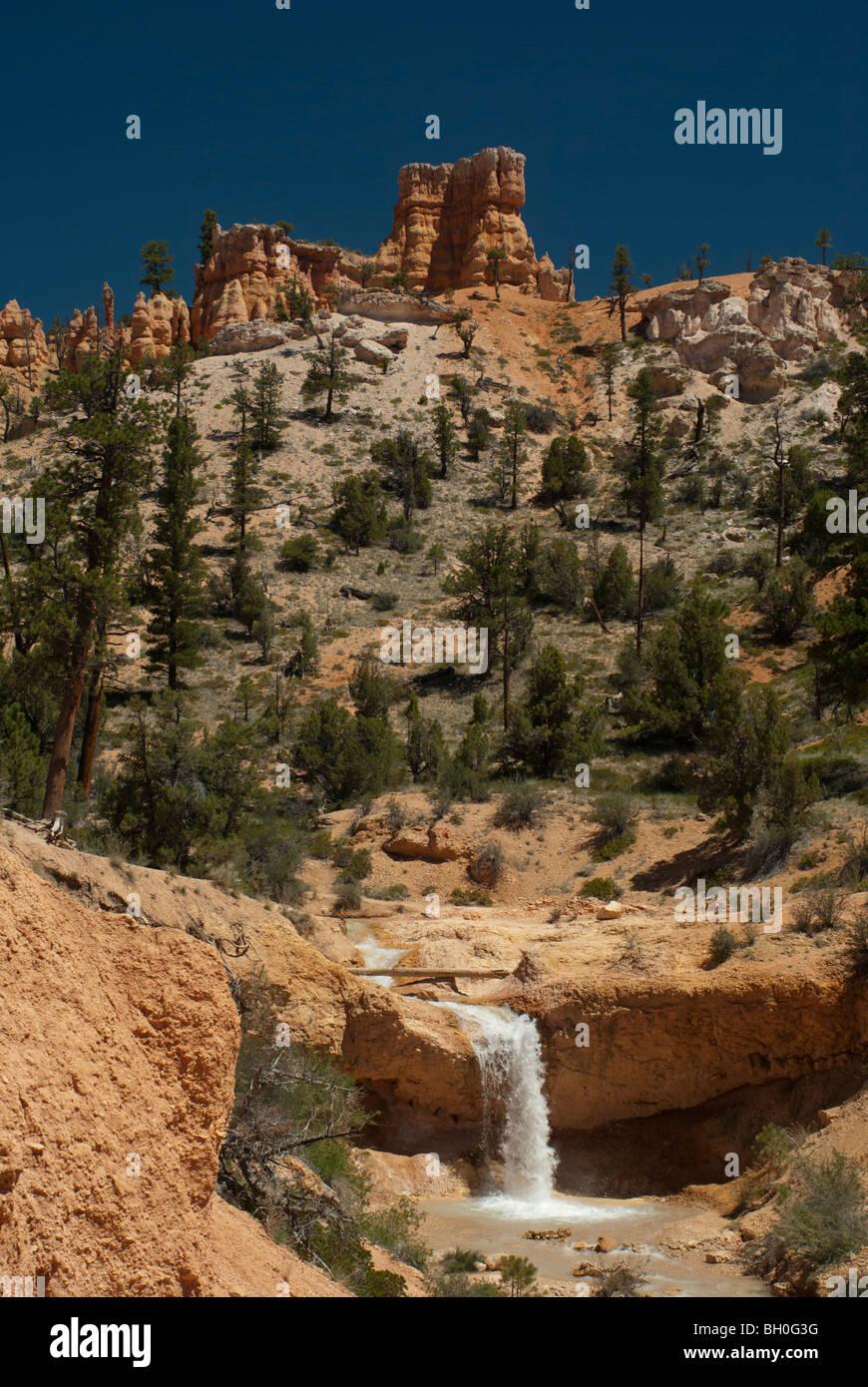 Waterfall in Utah - Stock Image