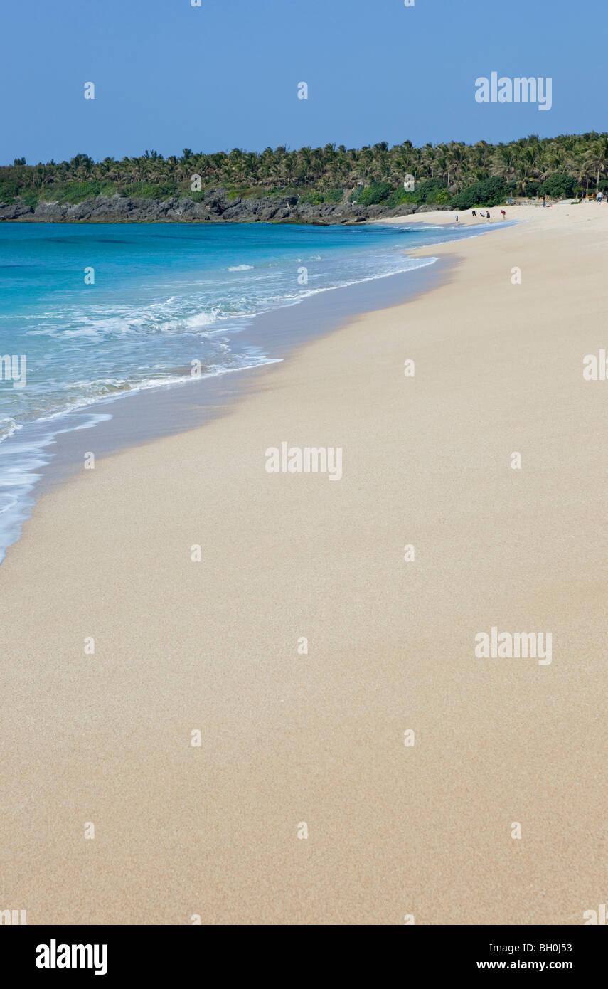 The deserted Baisha Beach in the sunlight, Baisha, Kenting National Park, Taiwan, Asia - Stock Image