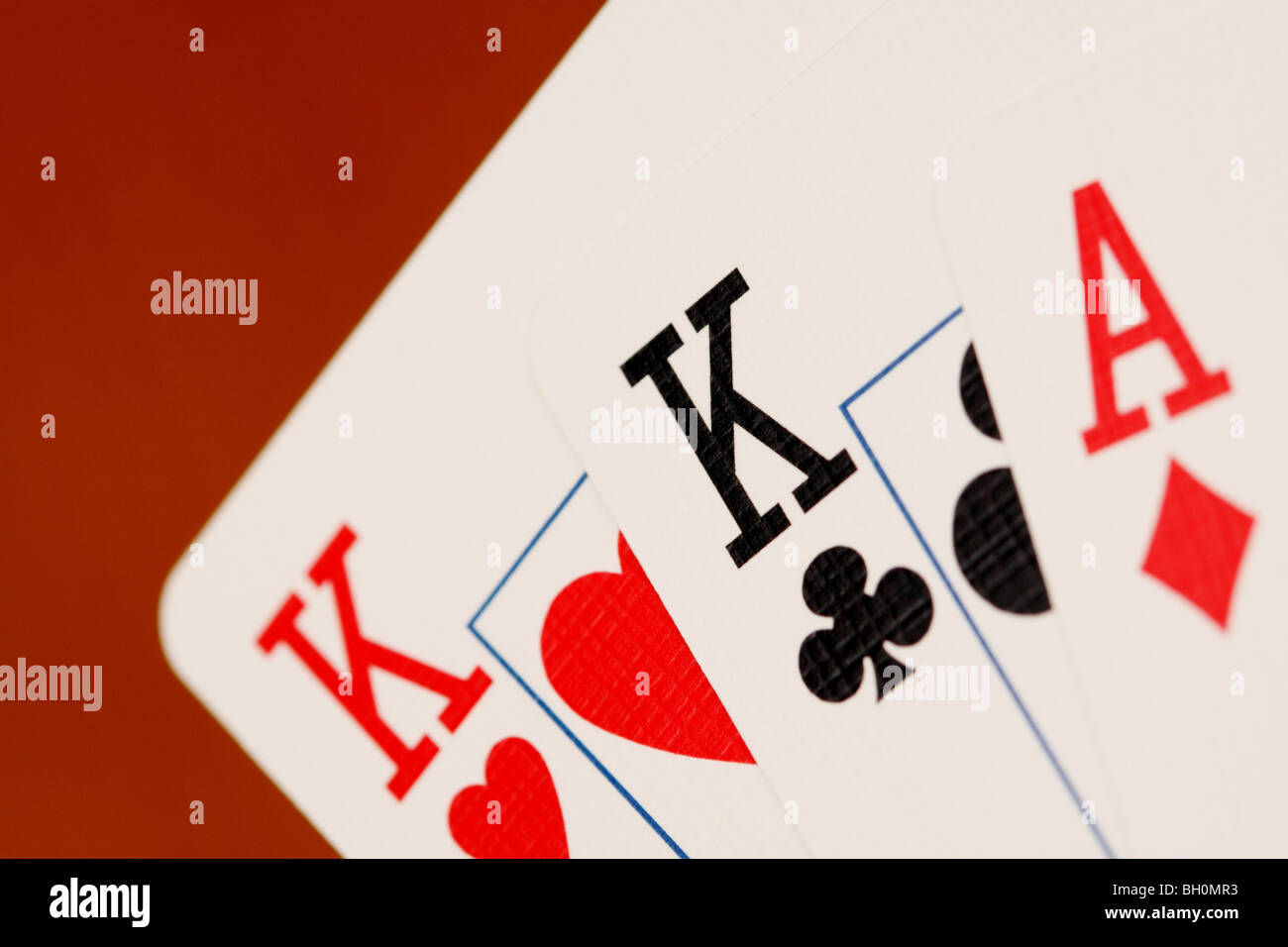 Playing cards King and Ace Kings and Aces - Stock Image