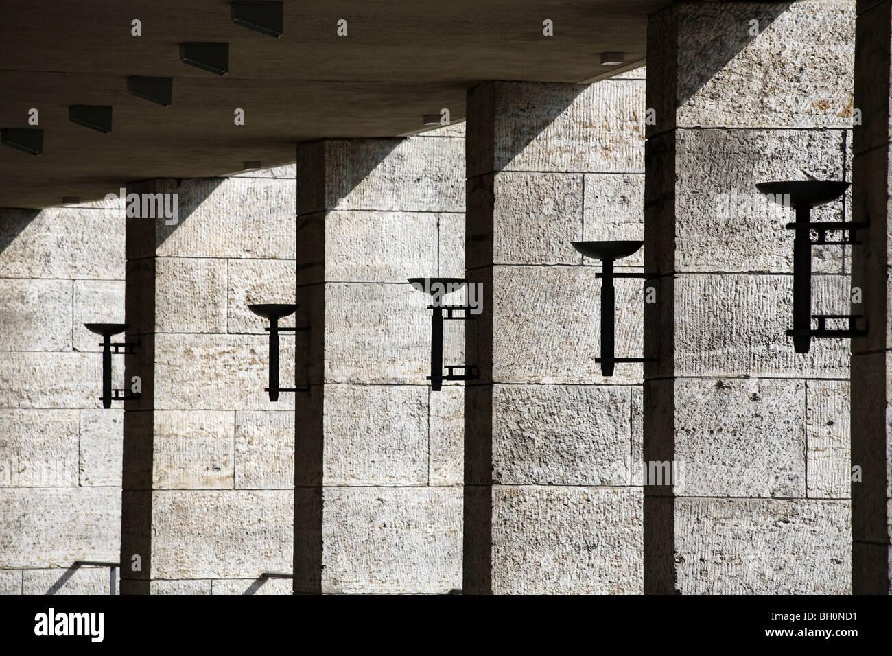 Berlin Olympiastadion Olympia Stadion Olympic Stadium - Stock Image