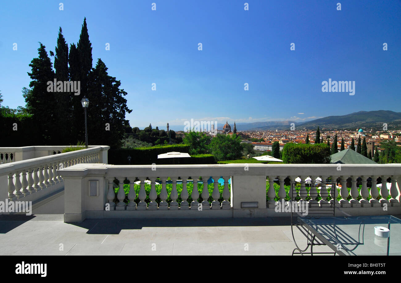 View Over Florence From The Terrace Of Luxury Hotel Villa La