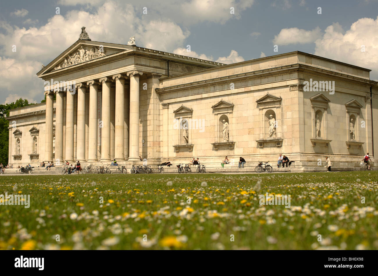 Glyptothek Munich Oberbayern Bavaria  Germany Europe - Stock Image