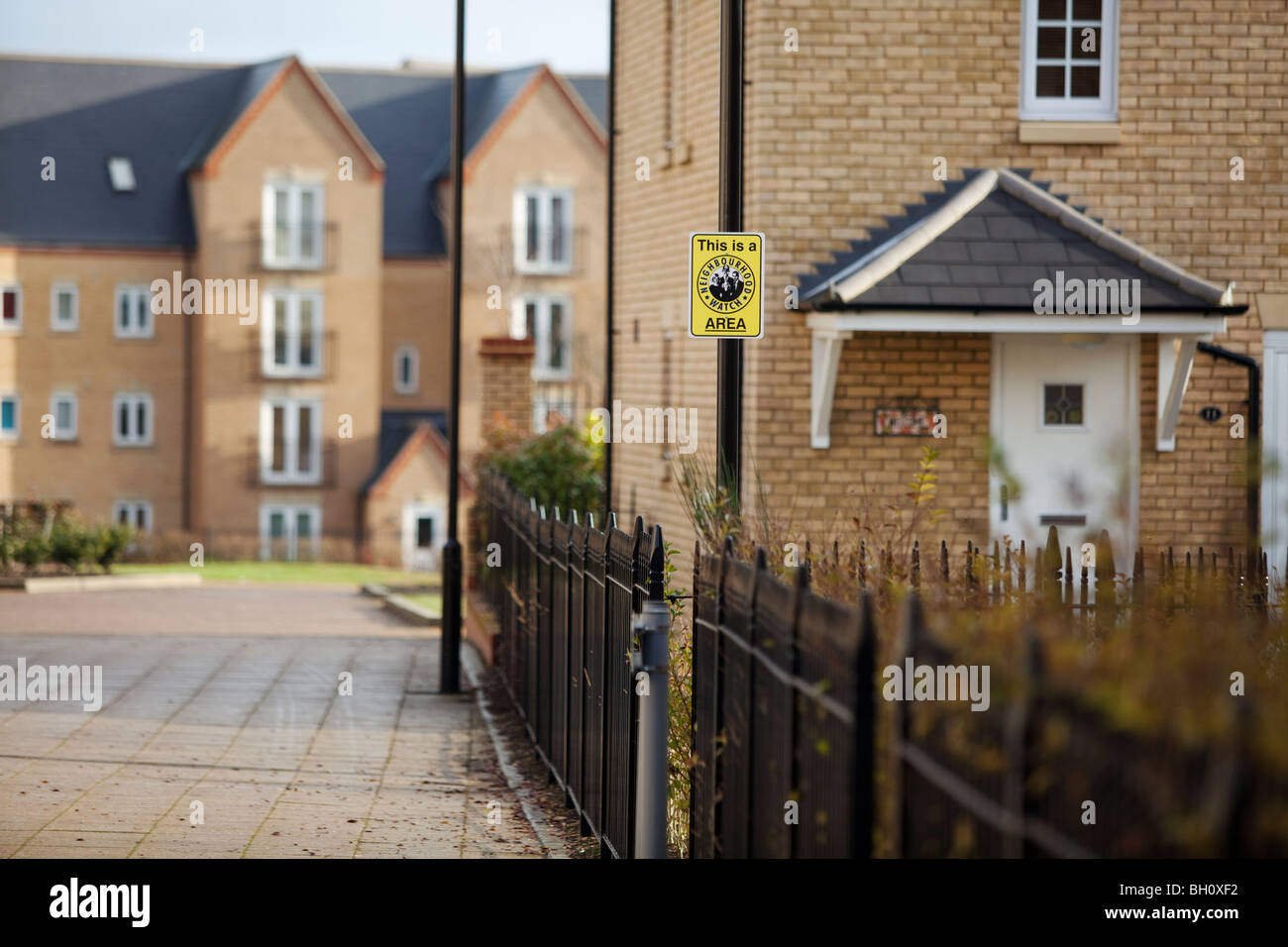 A neighbourhood watch sign on a housing estate in Northampton, UK - Stock Image