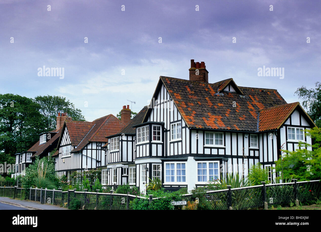 Europe, England, Suffolk, The Winlands, Thorpeness, Cottages - Stock Image