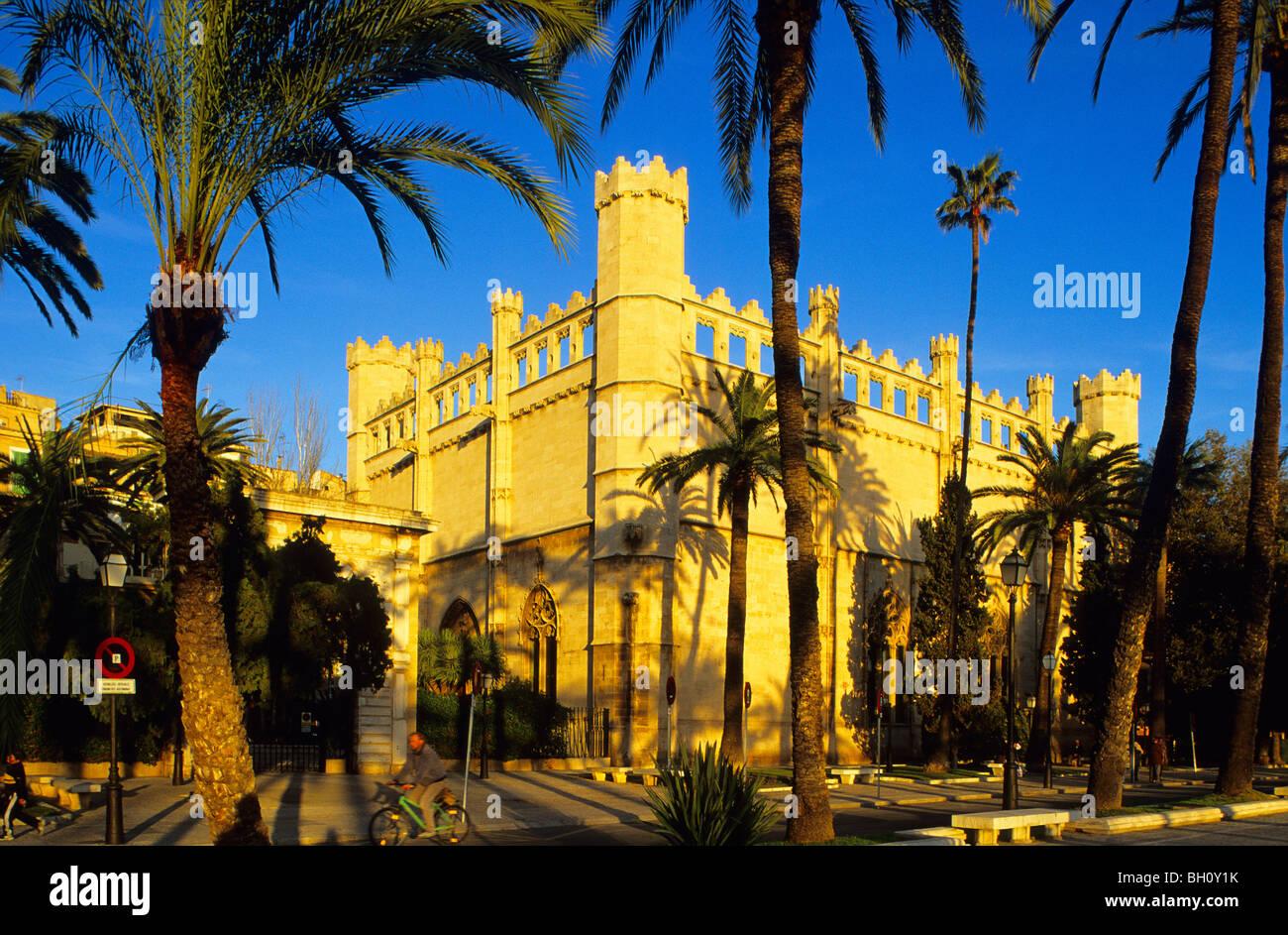 Europe, Spain, Majorca, Palma, Sa Llotja, stock exchange - Stock Image
