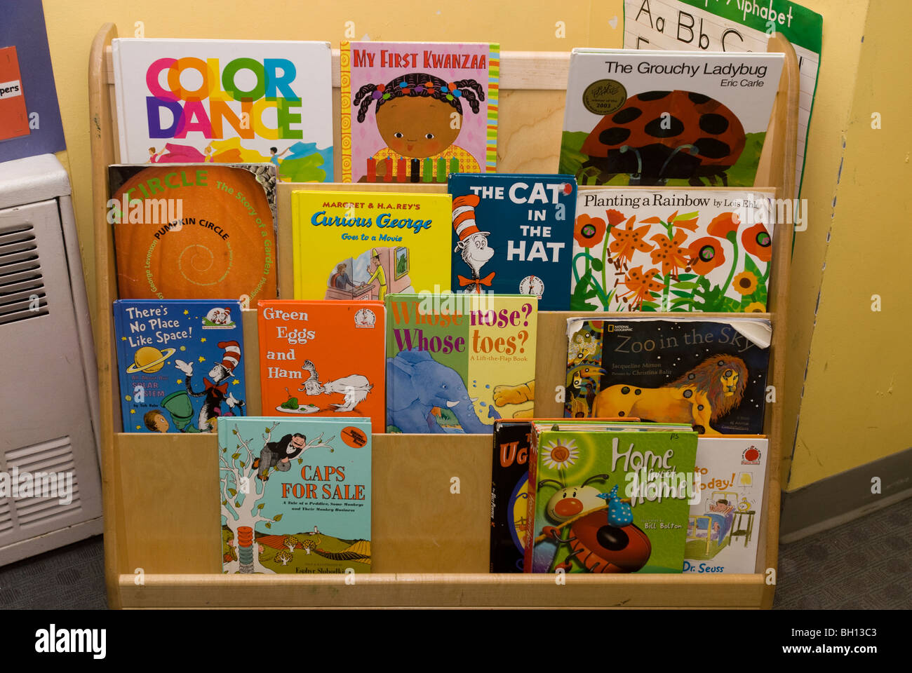 Children S Books On Display At A School Library On