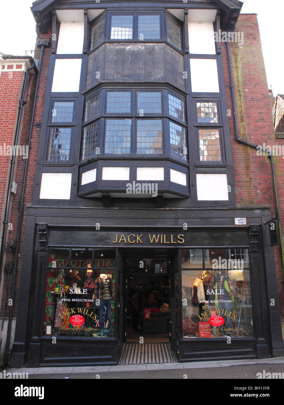 Jack Wills clothes shop High Street Winchester - Stock Image