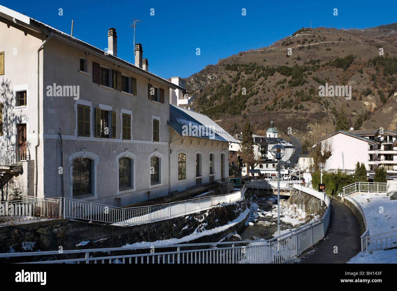 The town centre, Brides les Bains, Tarentaise Valley, Savoie, France - Stock Image