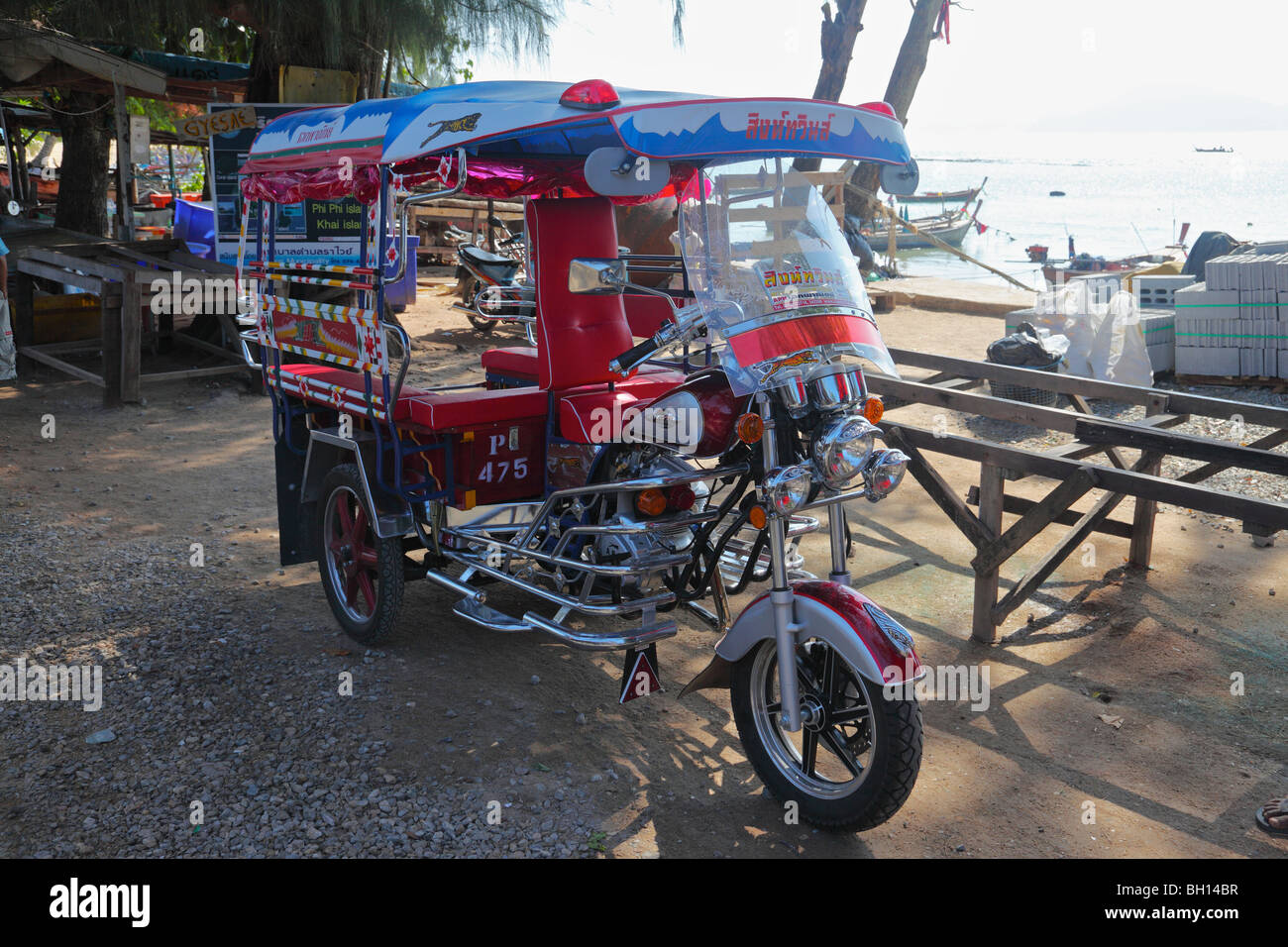 A very smart toc toc in Phuket, Thailand - Stock Image