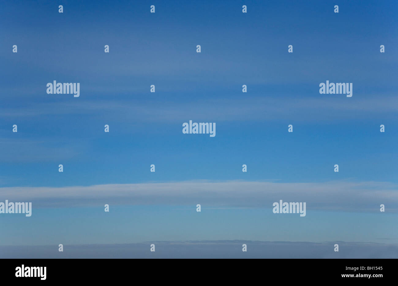 Stratus clouds on blue sky background Stock Photo