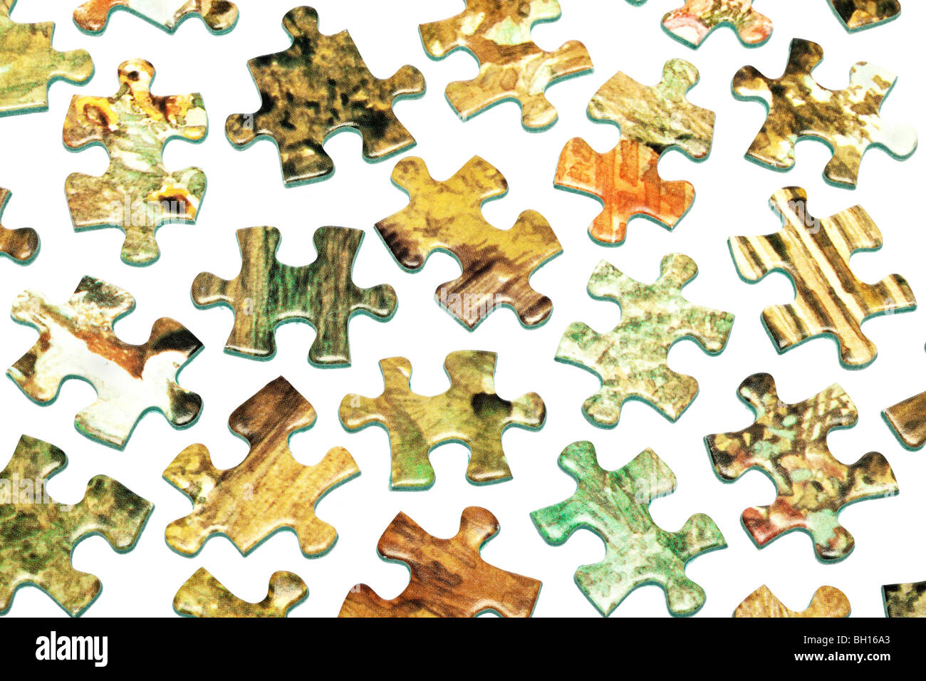 Jigsaw pieces - Stock Image