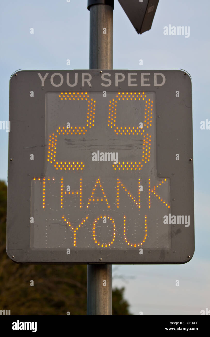 Speed Matrix Display Sign - Stock Image